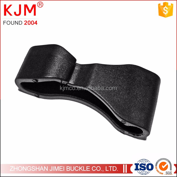 KJM Hot Sale Strong plastic black hook for handbag/strap belt
