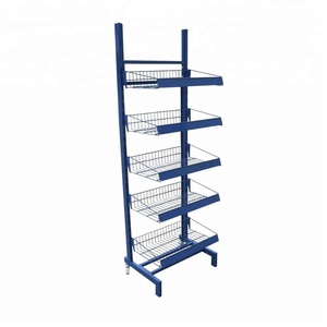Hot selling metal potato chip display rack with low price