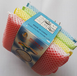 sponges with mesh/ economic sponge / cleaning scouring pad
