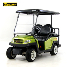 COC Approved 4 Seater Hunting Electric Golf Cart With Rear Flip Seat
