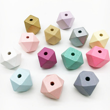 eco friendly octagonal jewelry making DIY accessories 15mm 20mm geometric wood beads