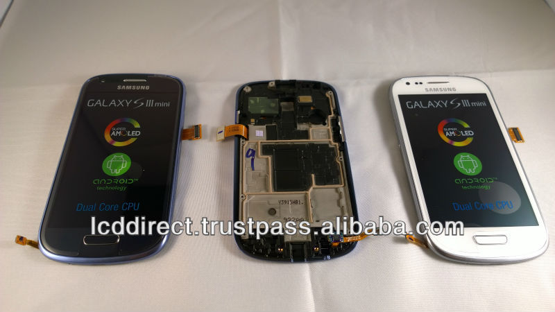 S3 Mini i8190 LCD Display Assembly Black, Blue, White & Grey