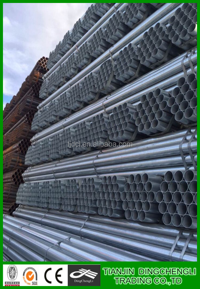 Hot dipped galvanized pipe G.I.tube seamless steel pipe
