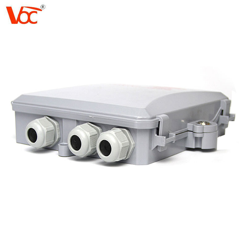 8 ports waterproof FTTH use IP65 fiber optic distribution box for cassette splitter