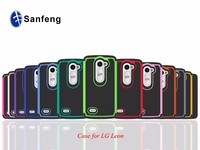 2015 fashion pc+silicone+tpu mobile phone case for LG C40