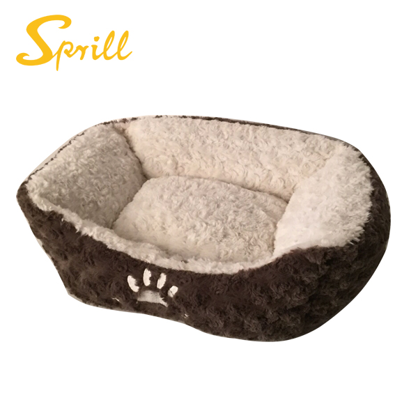 SPRILL Quiet Time Overstuffed Cuddle Bed for Cats & <strong>Dogs</strong>