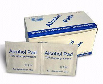 sterile alcohol pads for injection or thermometor probes