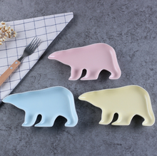 Ceramic tableware Creative snacks deep plate polar bear modeling dish Cake candy tray Snack plate