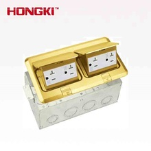 Duplex Pop up raised Brass stainless steel Metal electric outlet box