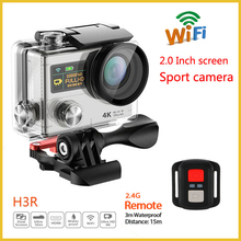 2016 New Best Selling Products H3R Ultra 4K HD WIFI Action Camera Dual Screen Remote Control Waterproof Sport Camera, Action cam