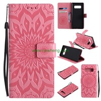 Card Slots Stand Flip Wallet PU Leather Case For Samsung Galaxy note 8