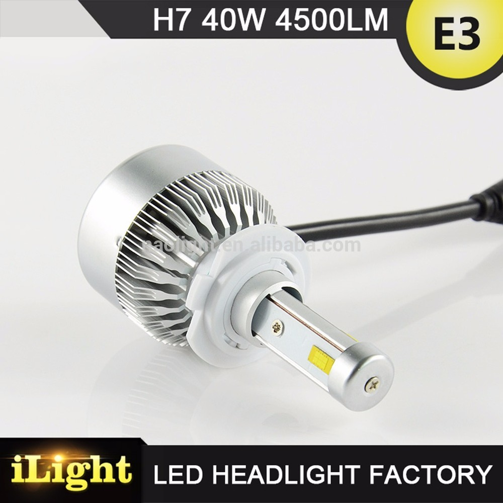anti-glare s2 h7 led headlight bulbs with DOT,E-mark,CE,ISO9001