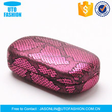 YT3002CL purple snake skin pattern iron contact lens case