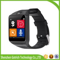 new gotrich 2016 bluetooth smart watch oem alloy ladies wrist watch GV08 smart watch with camera and sim card slot