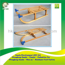 wood snow sledge