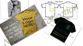 Custom T-shirt\polo shirts printing with your company logo, embroidery t-shirts\polo shirts: 100% Cotton: MOQ 120 Shirts