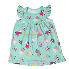 aqua animal printed boutique children's clothes girl child dress