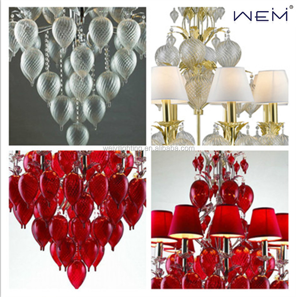 Weiyi Modern Indoor Chandeliers White Purple