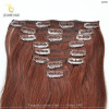 hot selling wholesale double drawn virgin remy human hair extention 200g clip in