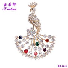 WQ Fancy Brooch Pin Colorful Crystal Rhinestone Brooch Korean Brooch Rose Gold Plated for Women