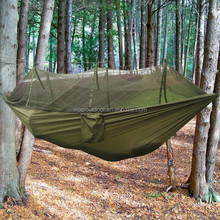 Woqi New Fashion Outdoor Parachute Nylon Camping Hammock tent with mosquito netting