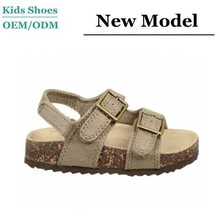 Best selling summer childs shoes accept OEM school boy mens leather sandals