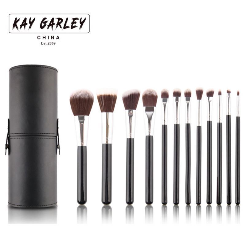 KAY GARLEY high quality 5 pcs wood handle paint flower nail art pen brush set