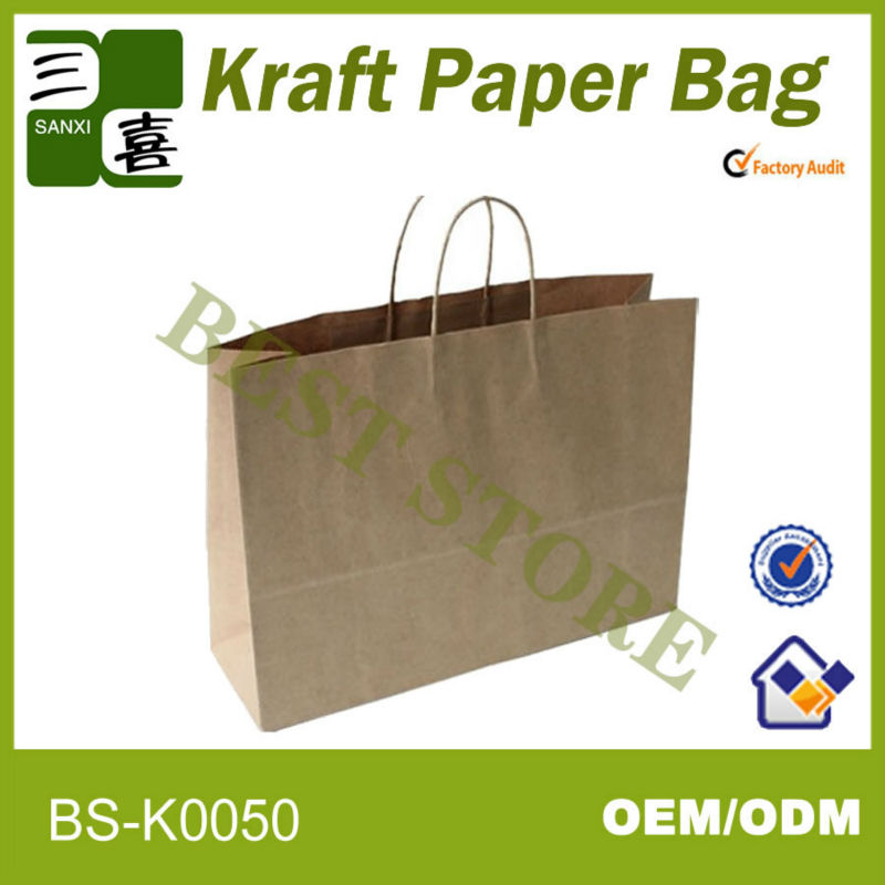 Brown kraft paper bags with <strong>handle</strong> wholesale