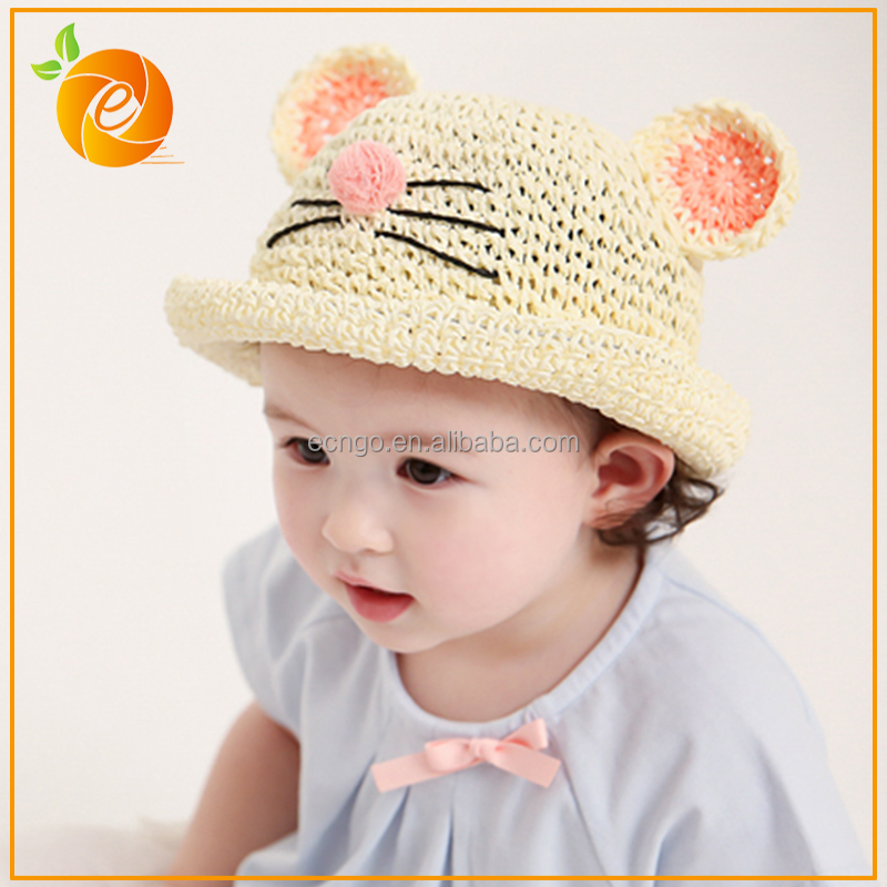 Cute Mouse Shape Infant Beach UV Protection Baby Bucket Hat