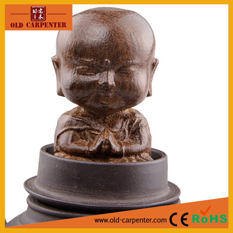 Funny little monk carving best selling christmas wood