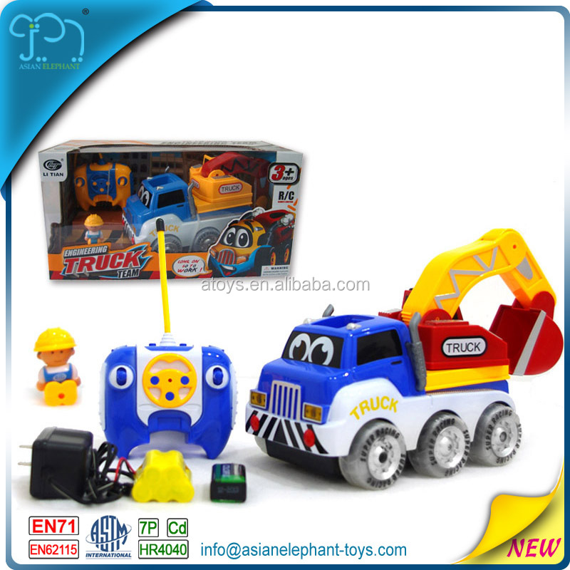 4 Channel RC Cartoon Car 4WD Tractor 4WD Truck Mini 4WD Race Track For Sale With Logo 4WD Toy Car For Kids 4WD Tractor With Logo