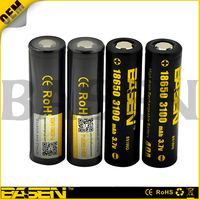 CE certificated Top selling Basen 18650 high capacity 3100mah 40A 3.7v rechargeable li-ion battery with OEM PCB protected