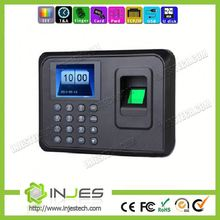 INJES Desktop Battery USB No Software 600 fingerprint biometric setting time recorder