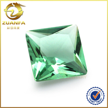 3x3 to 25x25mm square shape green jewelry making China glass stones