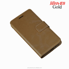 Free sample wholesale luxury personalised wallet leather smart phone case for HUAWEI P8 with wallet card slots