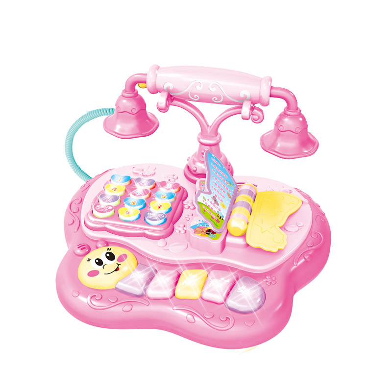 Amazon Hot Sells 2019 New Electric Educational Baby Telephone Toy With Light And Music
