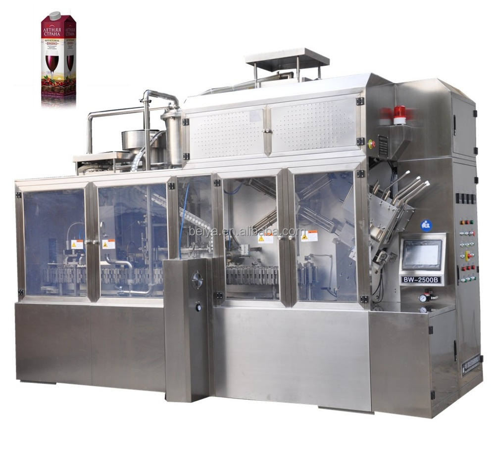 Automatic roof paper box filling machine for wine