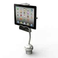 tablet PC car mount works with an individual tablet PC stand