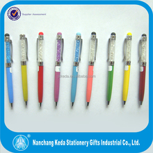 promotional new year gift pen genuine crystal filled pens