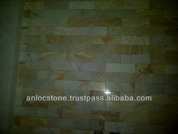polished Yellow Marble tiles from Vietnam, cut to szie