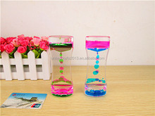 Hourglass Goblet Liquid Drop Motion Timer Toy