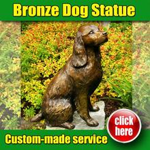 2016 Popular Design zen dog garden sculpture with low price