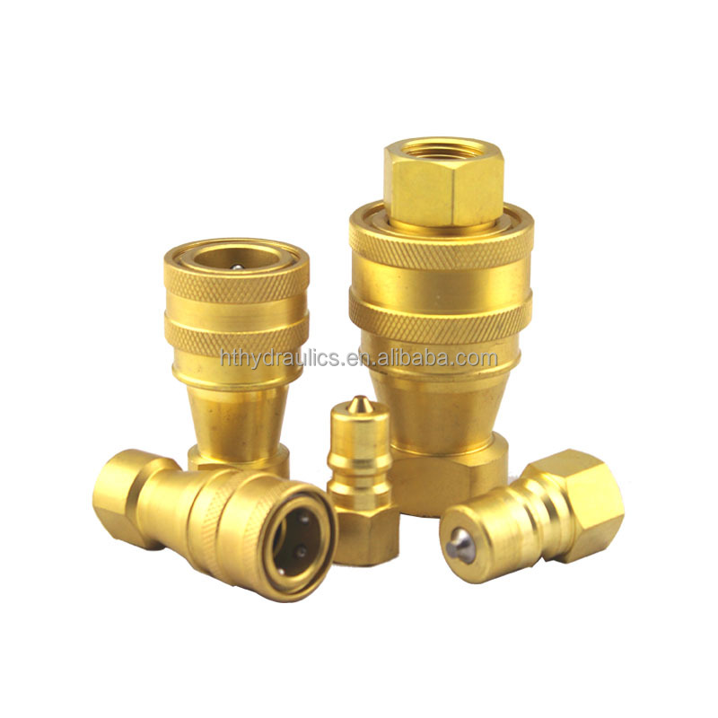 Close Type Brass Stainless Steel Hydraulic Quick Coupling Hydraulic Connector Camlock Coupling