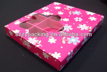 12 PCS packing chocolate box with transparent window