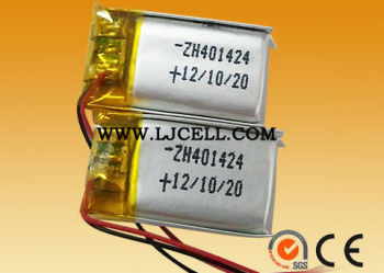 3.7v 90mAh 401424 Li-polymer rechargeable Battery with CE&SGS