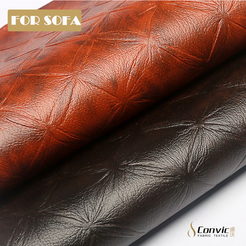 waterproof elastic feature feature and pvc material fabric genuine <strong>leather</strong>