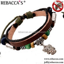 Rebacca's 2015 New leather Mosquito Repellent Bracelet Anti Mosquito Bracelet Child Mosquito Repellent Wrist Band Outdoor