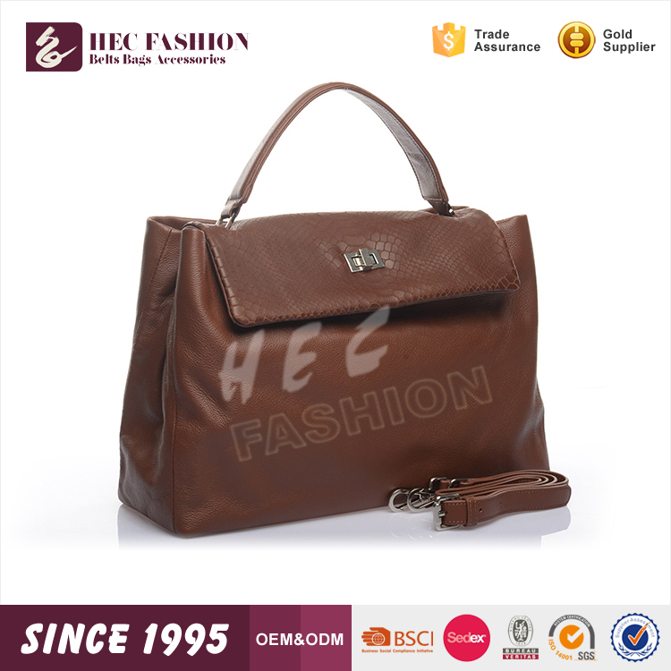 HEC 2016 New Designed Chinese PVC Leather Waterproof Lady Shoulder Hand Bag