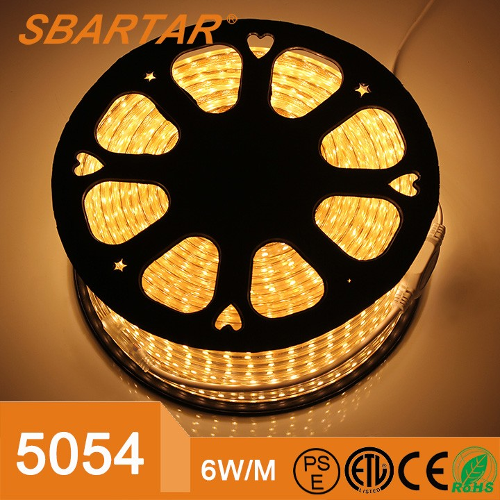 1M 2M 5M 10M 15M Input Voltage AC 220V Flexible 5054 SMD LED Strip light Silicone Tube Waterproof 60LEDs/<strong>M</strong> With EU Power Plug