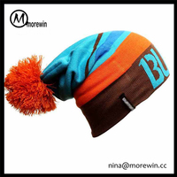 Morewin brand promotional gift custom winter hats with pompoms teenages skate caps colorful slouch beanie hats crochet hats